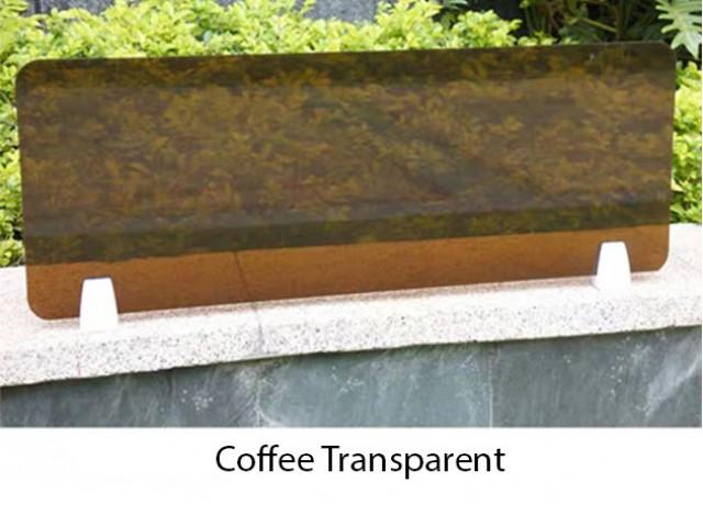 Acrylic Desking Panel C/w White Bracket
