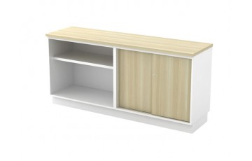 T-B-YOS7160 Open Shelf + Sliding Door Low Cabinet