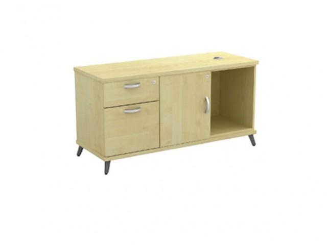 T-Q-YLP1226 Open Shelf+Swinging Door+Fixed Pedestal 1D1F