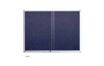 WB-VG23 Velvet Board-Sliding Glass Aluminium Frame