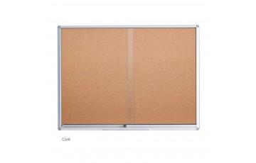 WB-CG23 Cork Board-Sliding Glass Aluminium Frame