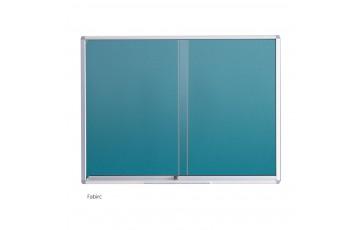 WB-TG23 Fabric Board-Sliding Glass Aluminium Frame