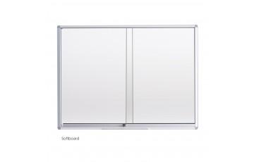 WB-SG23 Soft Board-Sliding Glass Aluminium Frame