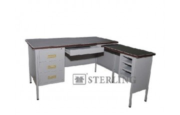 EI-S101/LT 5' L-Shape Pedestal Desk