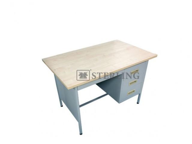 EI-S102/LT 4' Single Pedestal Desk