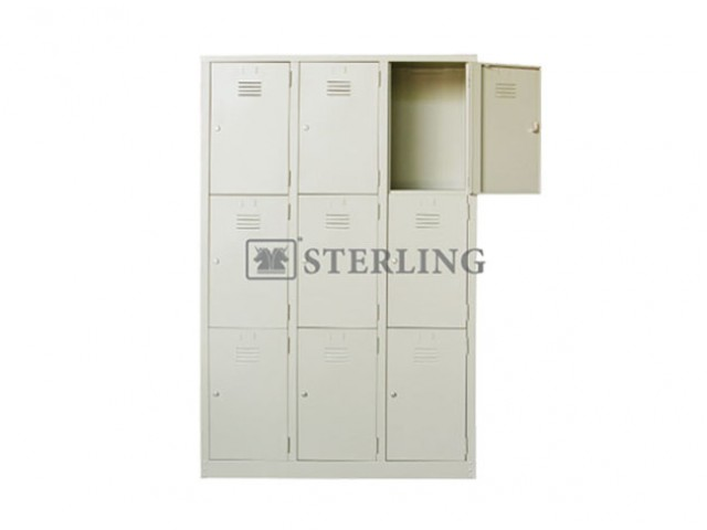 EI-S105 / S135 - 9 Compartments Steel Locker