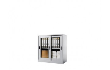EI-S110 Half Height Cupboard With Glass Sliding Door