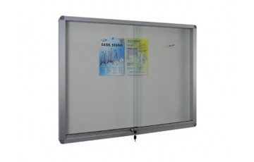 WB-SG23 Soft Board-Sliding Glass Aluminium Frame